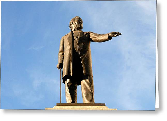 Salt Lake City Temple Photography Greeting Cards - Brigham Young 1801 - 1877 Greeting Card by David Lee Thompson