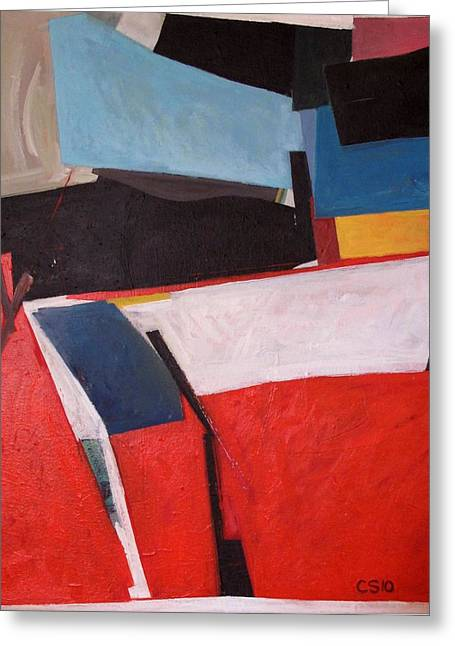 Richard Diebenkorn Greeting Cards - Bright Avenue Greeting Card by Charlie Spear
