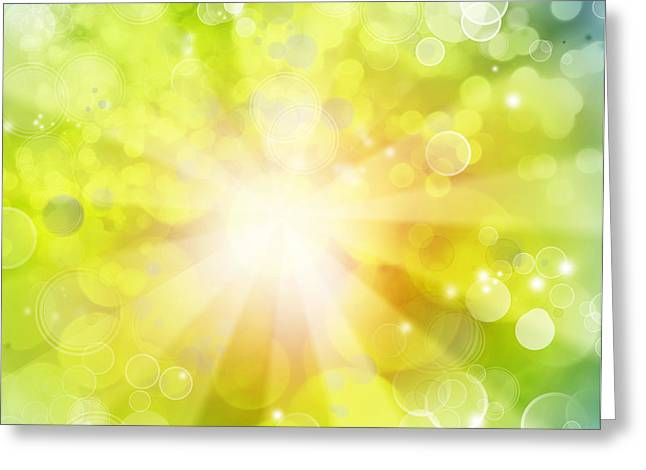 Bright background Greeting Card by Les Cunliffe