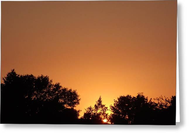 Bright Orange Sky Greeting Card by Brian  Maloney