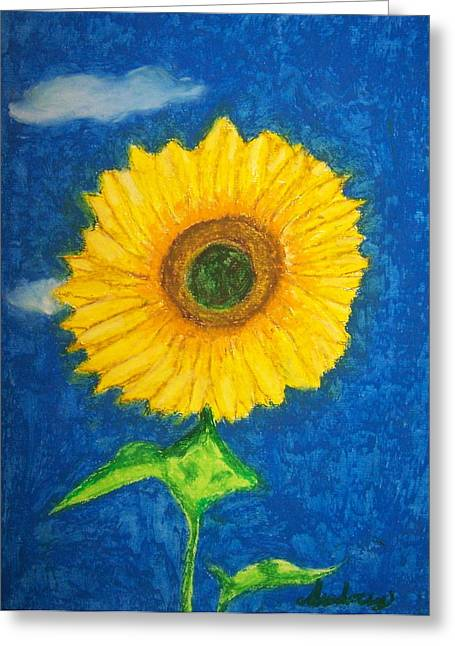 Bright Pastels Greeting Cards - Bright Sunflower Greeting Card by Audrey Hughes