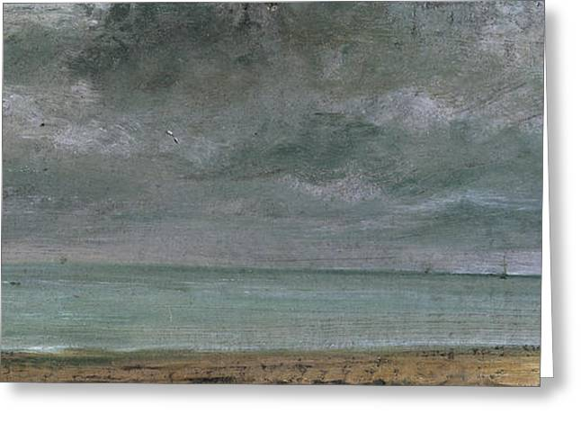 Constable Paintings Greeting Cards - Brighton Beach Greeting Card by John Constable