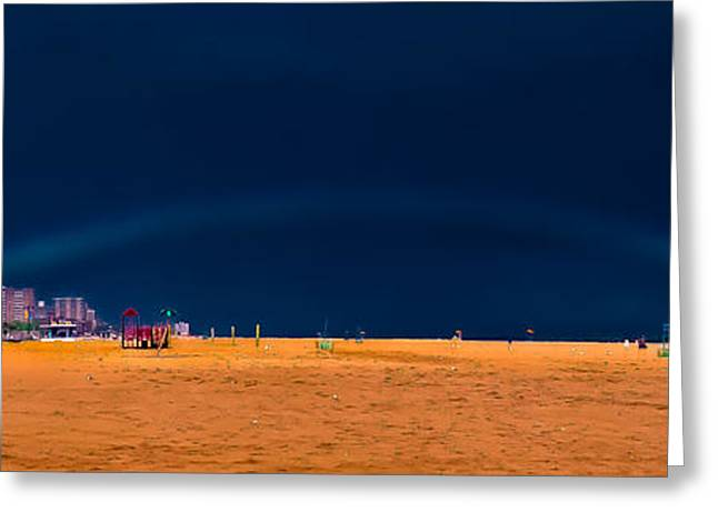 York Beach Greeting Cards - Brighton Beach Rainbow Greeting Card by David Hahn
