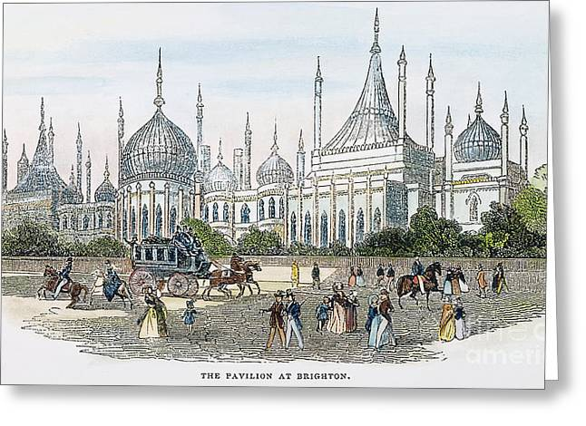 1842 Photographs Greeting Cards - Brighton Pavilion, 1842 Greeting Card by Granger