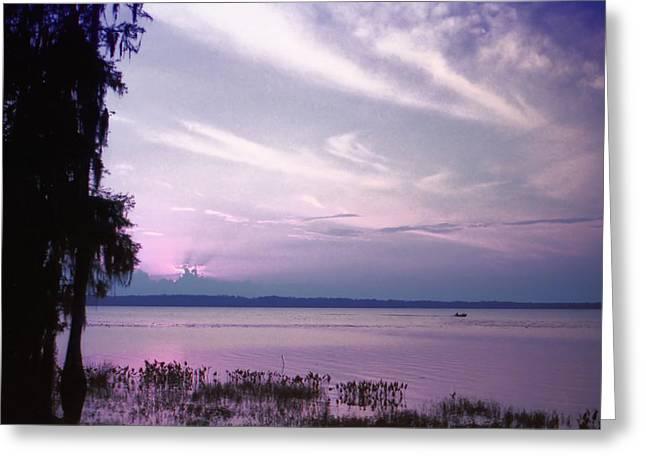 Lynnette Johns Greeting Cards - Brilliant Everglades Sunset Greeting Card by Lynnette Johns