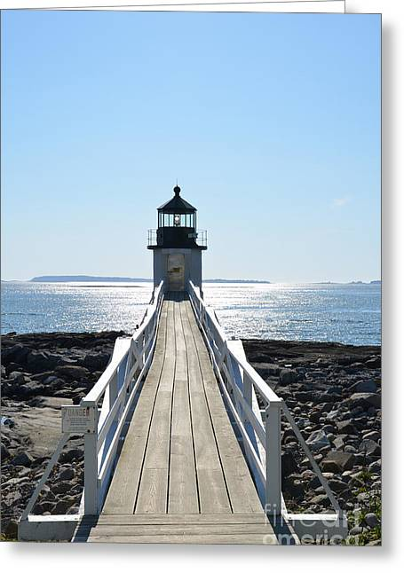 New England Ocean Greeting Cards - Brilliant Light Greeting Card by Corinne Rhode