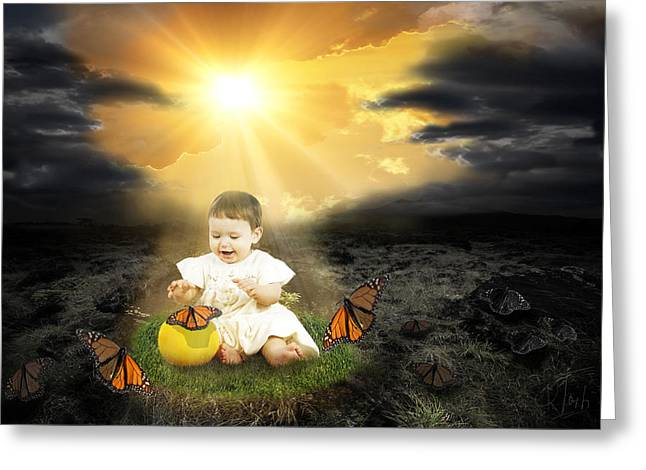 Bringing Innocence Back to Our Lives Greeting Card by Rozalia Toth