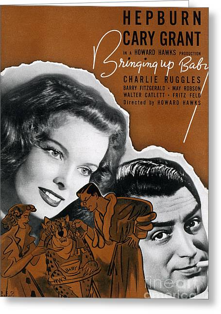 1938 Movies Greeting Cards - Bringing Up Baby, 1938 Greeting Card by Granger