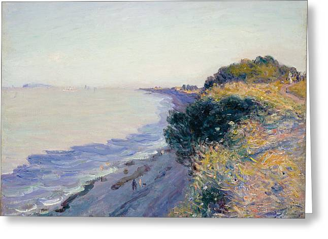 Dusk Paintings Greeting Cards - Bristol Channel Evening Greeting Card by Alfred Sisley