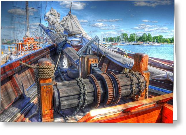 Village By The Sea Greeting Cards - Bristol Fashion Greeting Card by Barry R Jones Jr
