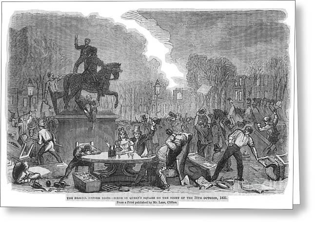 Reform Greeting Cards - Bristol: Reform Riot, 1831 Greeting Card by Granger