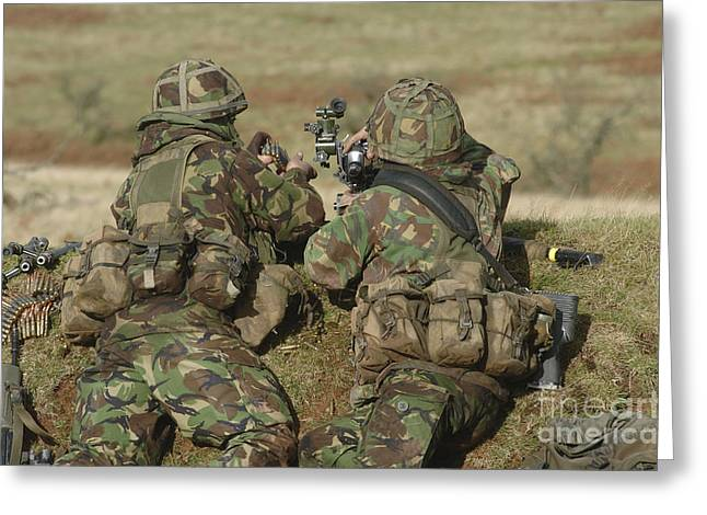 Brecon Beacons Greeting Cards - British Army Soldiers Participate Greeting Card by Andrew Chittock