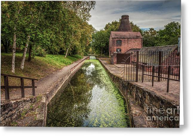 Kiln Greeting Cards - British Canal  Greeting Card by Adrian Evans