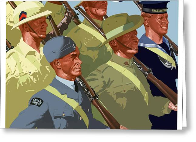 British Empire Soldiers Together Greeting Card by War Is Hell Store