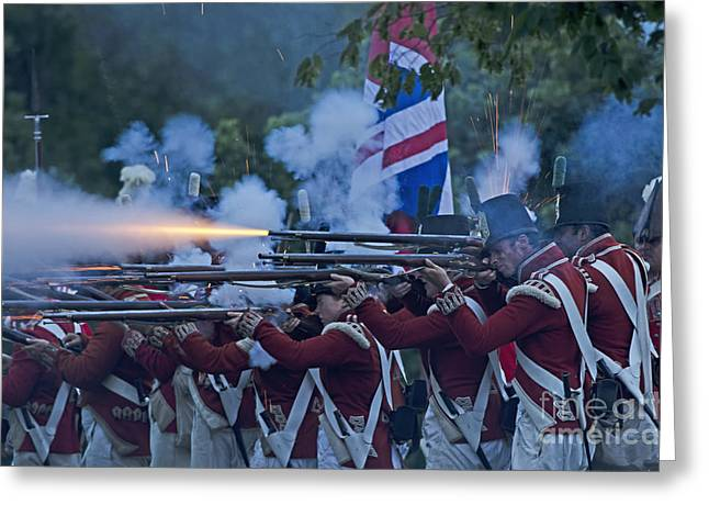 In 1812 Greeting Cards - British Night Battle Greeting Card by JT Lewis