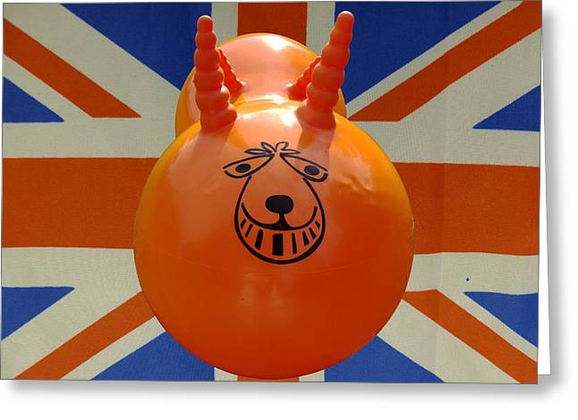 Bouncer Greeting Cards - British Space Hopper Greeting Card by Richard Reeve
