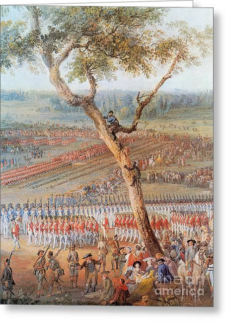 Climb Tree Greeting Cards - British Troops Surrender At Yorktown Greeting Card by Photo Researchers