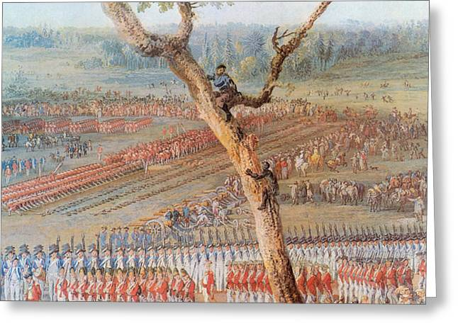 British Troops Surrender At Yorktown Greeting Card by Photo Researchers