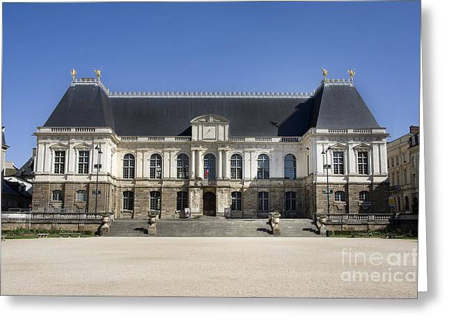 Brittany Parliament Greeting Card by Jane Rix