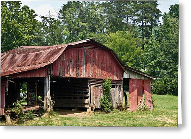 Tin Roof Greeting Cards - Broad Roofed Barn 1 Greeting Card by Douglas Barnett