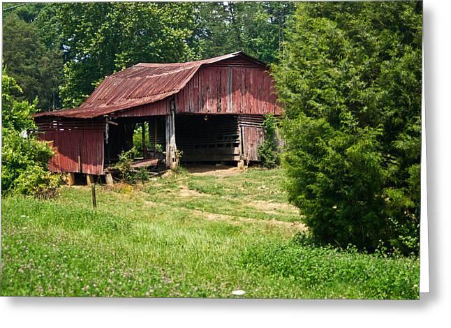 Broad Roofed Barn Greeting Card by Douglas Barnett