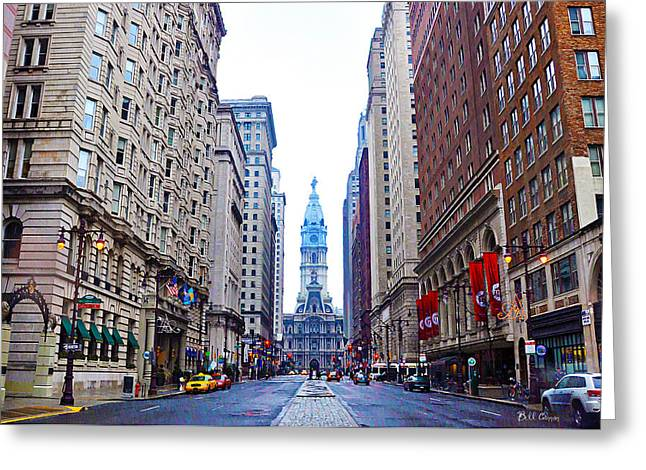 Broad Street Digital Art Greeting Cards - Broad Street Avenue of the Arts Greeting Card by Bill Cannon