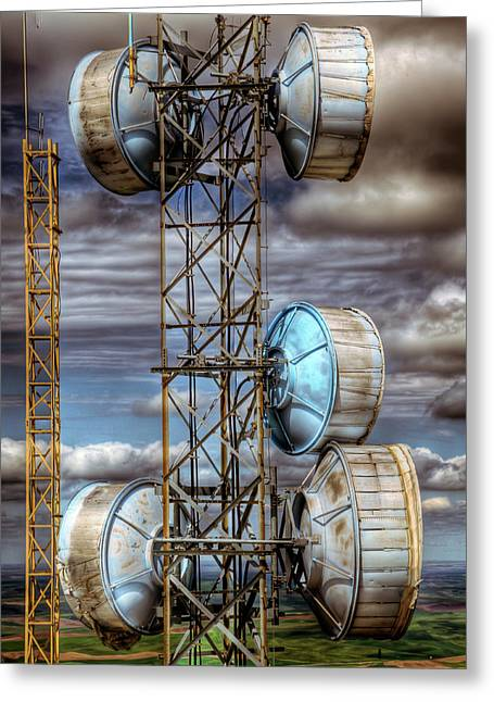 Antenna Greeting Cards - Broadcast Greeting Card by Niels Nielsen