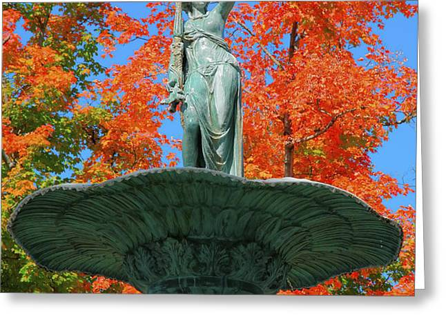 Broadway Fountain I Greeting Card by Steven Ainsworth