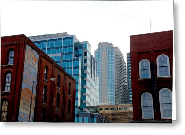 Architecture Of Nashville Greeting Cards - Broadway Nashville TN Greeting Card by Susanne Van Hulst