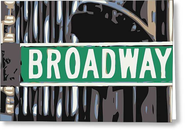 True Melting Pot Greeting Cards - Broadway Sign Color 6 Greeting Card by Scott Kelley