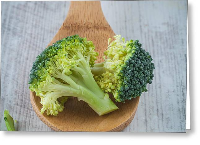 Broccoli Greeting Card by Sabino Parente