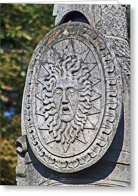 Lion Gargoyle Greeting Cards - Brocks Monument 10 Greeting Card by Cyryn Fyrcyd