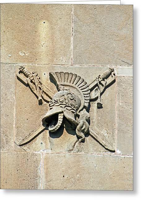 Lion Gargoyle Greeting Cards - Brocks Monument 11 Greeting Card by Cyryn Fyrcyd