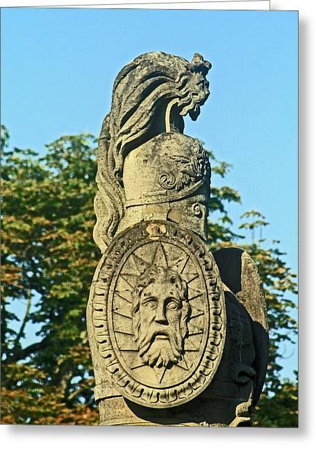 Lion Gargoyle Greeting Cards - Brocks Monument 12 Greeting Card by Cyryn Fyrcyd