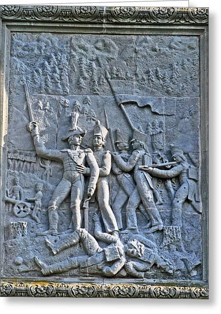 Lion Gargoyle Greeting Cards - Brocks Monument 9 Greeting Card by Cyryn Fyrcyd