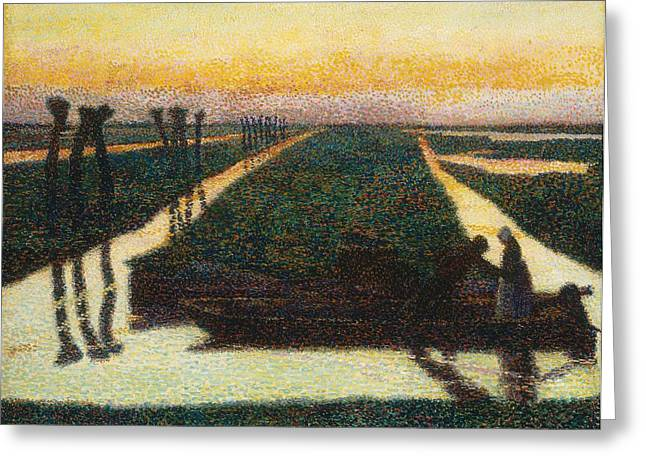 Broek In Waterland Greeting Card by Jan Theodore Toorop