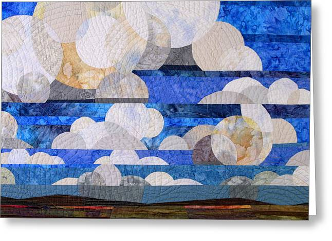 Clouds Tapestries - Textiles Greeting Cards - Broken Cumulous Greeting Card by Linda Beach