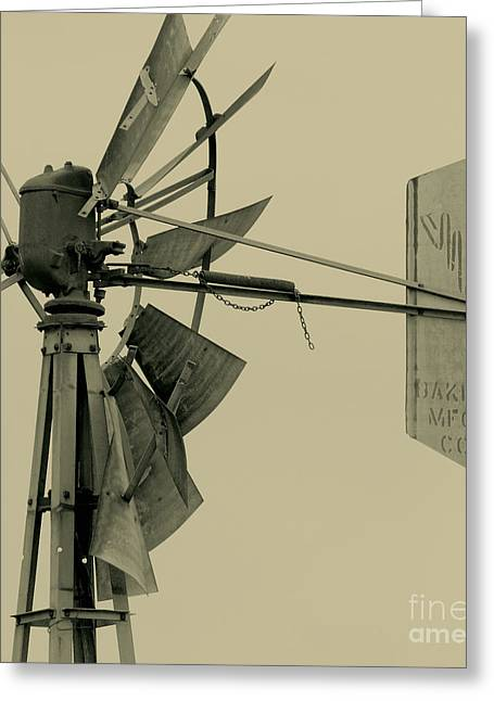 Generators Greeting Cards - Broken Down Windpump Greeting Card by Robert Frederick