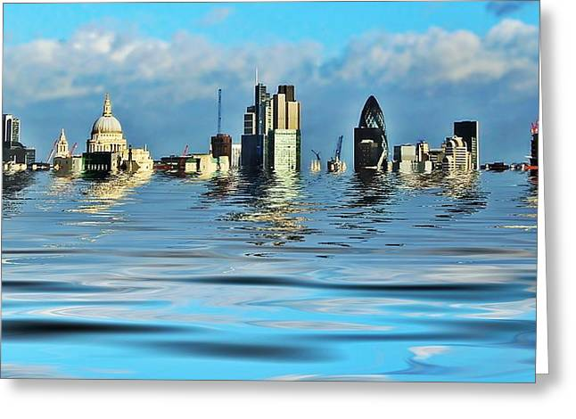 Doomsday Greeting Cards - Broken flood barrier Greeting Card by Sharon Lisa Clarke