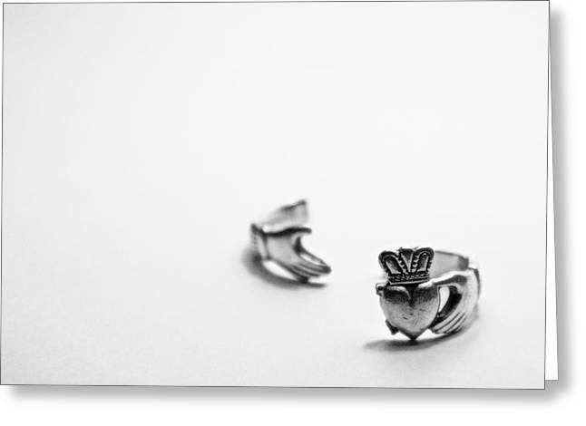 Best Sellers -  - White Jewelry Greeting Cards - Broken Heart Greeting Card by Brandon Leahy