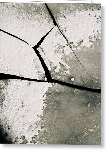 Floating Ice Sheet Greeting Cards - Broken ice Greeting Card by Lars Hallstrom