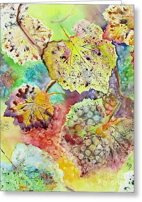 Grape Leaves Greeting Cards - Broken Leaf Greeting Card by Karen Fleschler