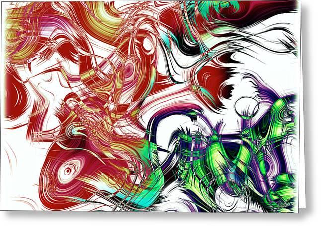 Susan Leggett Digital Greeting Cards - Broken Paint Strokes Greeting Card by Susan Leggett