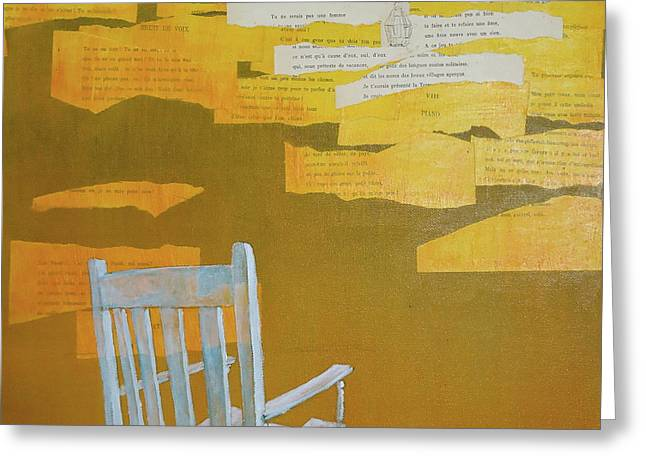 Chairs Mixed Media Greeting Cards - Broken Greeting Card by Paul OBrien