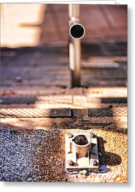 Railing Greeting Cards - Broken Railing Greeting Card by HD Connelly