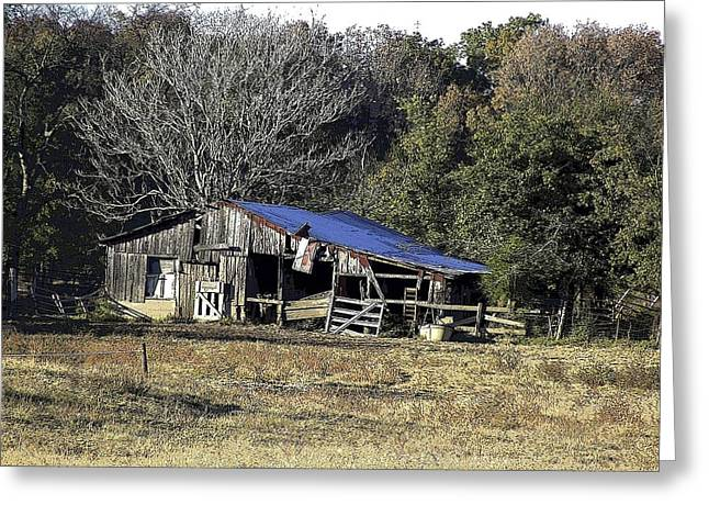 Shed Digital Art Greeting Cards - Broken Shed at Walter River Greeting Card by Jay Stephen