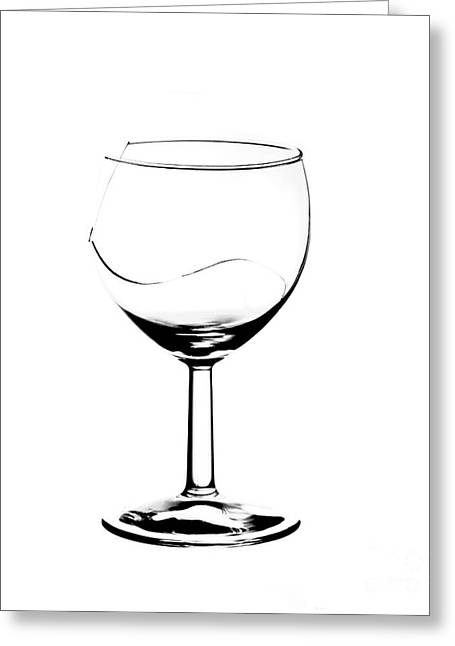Toast Greeting Cards - Broken Wine Glass Greeting Card by Michal Boubin