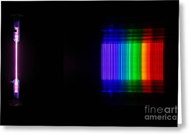 Spectra Greeting Cards - Bromine Spectra Greeting Card by Ted Kinsman
