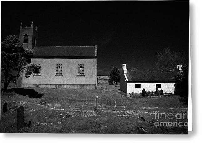 Interpretive Greeting Cards - Bronte Homeland Interpretive Centre Drumballyroney Church County Down Ireland Greeting Card by Joe Fox