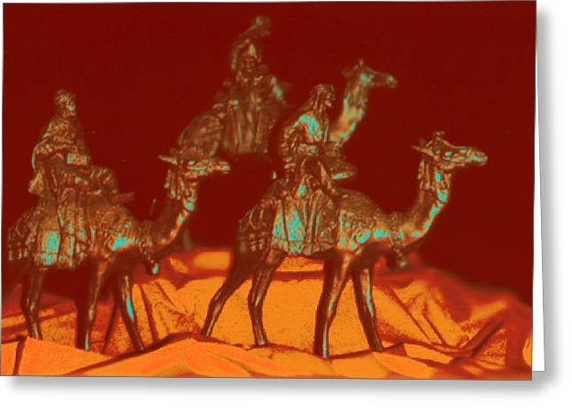 Tarjetas Greeting Cards - Bronze Wise Men Greeting Card by Estela Robles